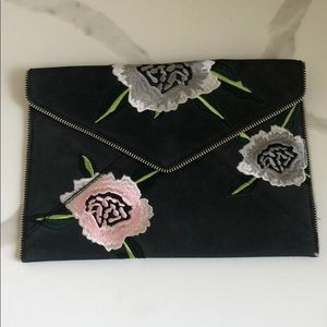 Rebecca Minkoff Leo Clutch Embroidered Flowers